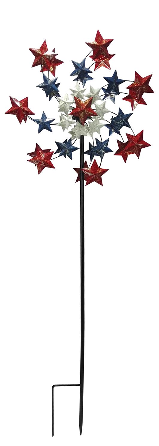 "72"" Tall Star Spangled Spinner"