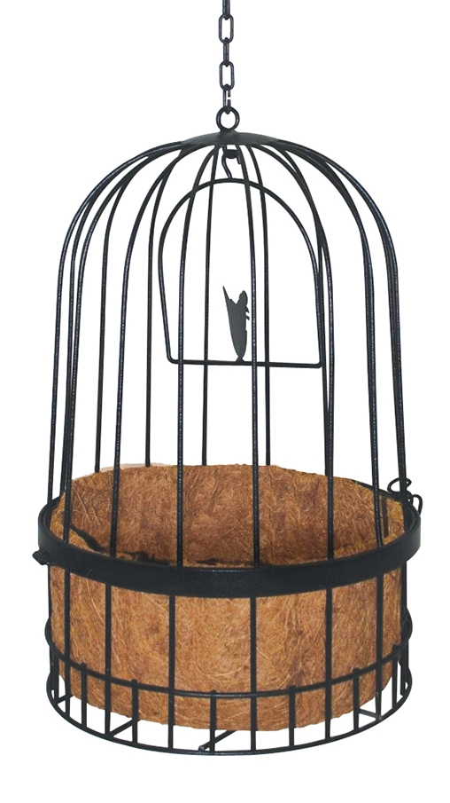 Bird Cage Hanging Basket with Liner