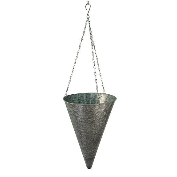 Tapered Cone Galvanized Hanging Basket