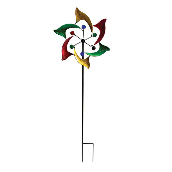 """48"""" Tall Jester Wind Spinner"""