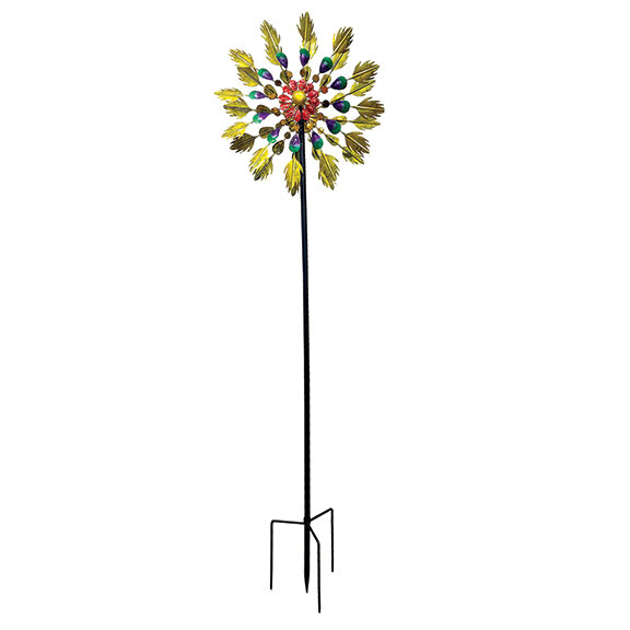 "84"" Tall Canary Wind Spinner"