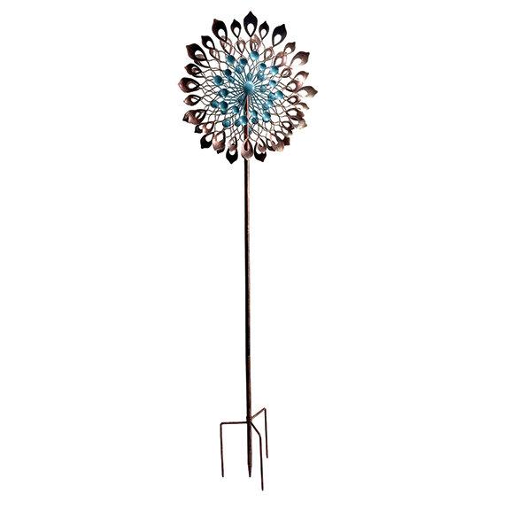 "84"" Tall Dahlia Wind Spinner"