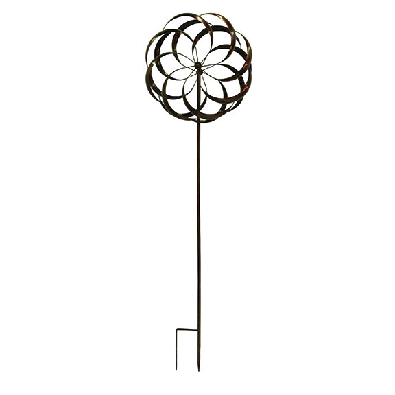 """84"""" Tall Copper Wind Spinner"""