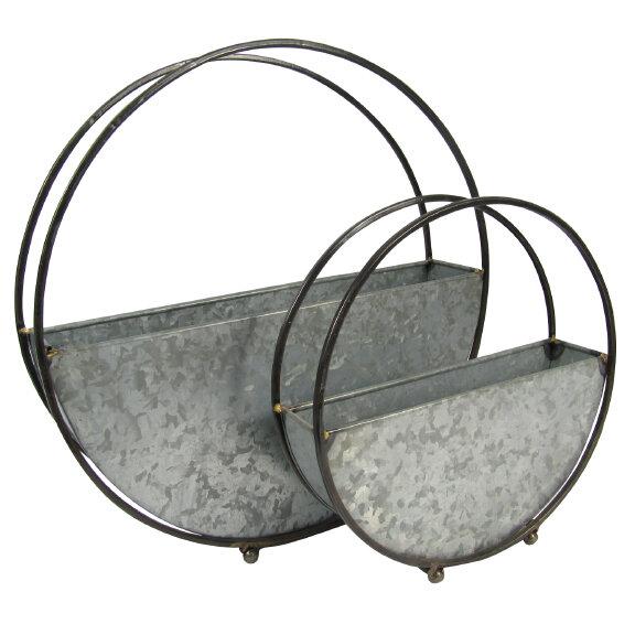 Galvanized Hoop Planters